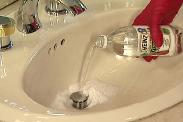 clear clogged sink drains
