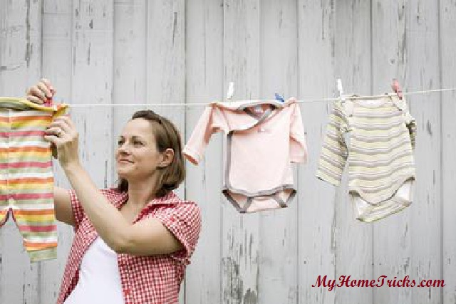 Cleaning baby clothes –
