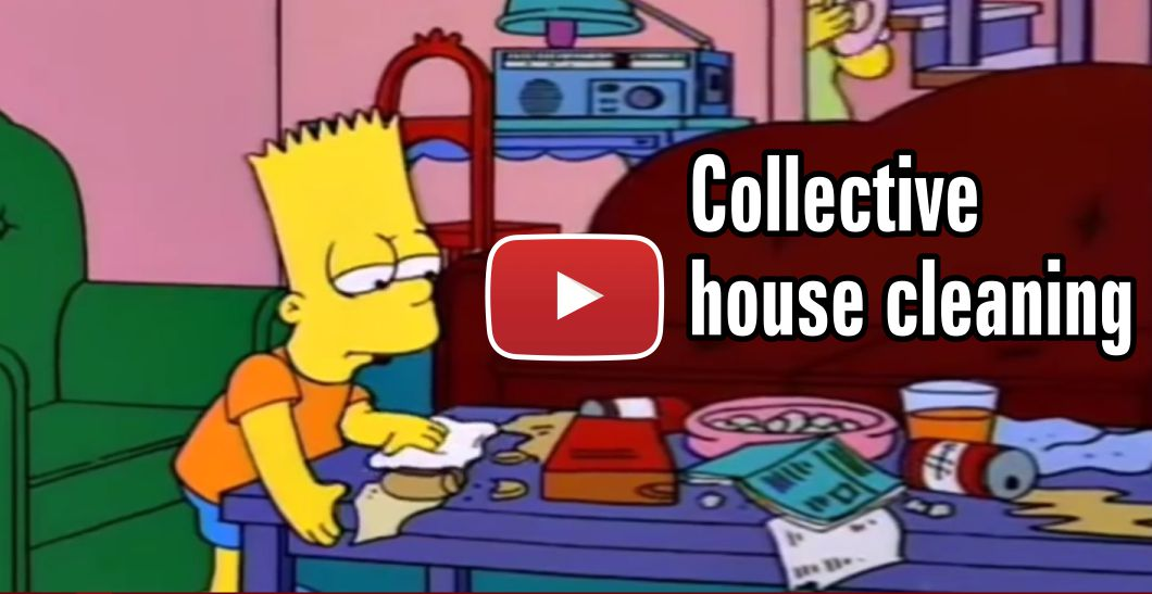 Simpsons Clean The House
