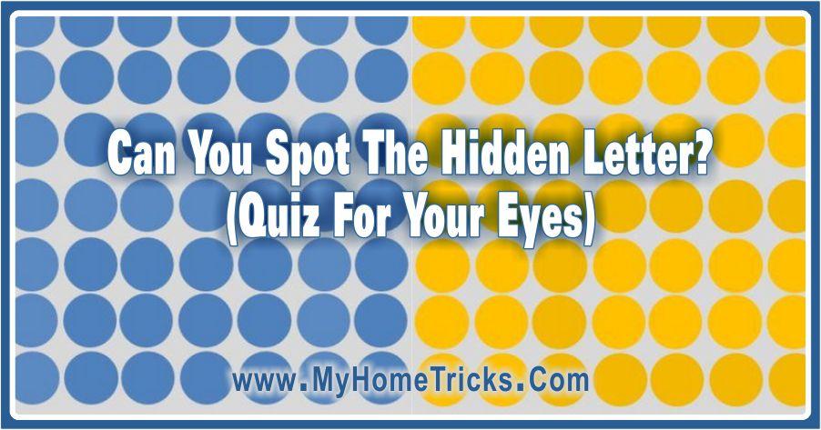 Can You Spot The Hidden Letter? (Quiz)