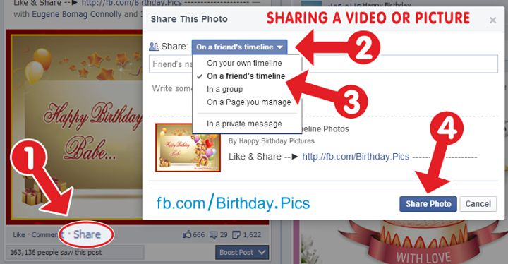 how to share on facebook page – pic