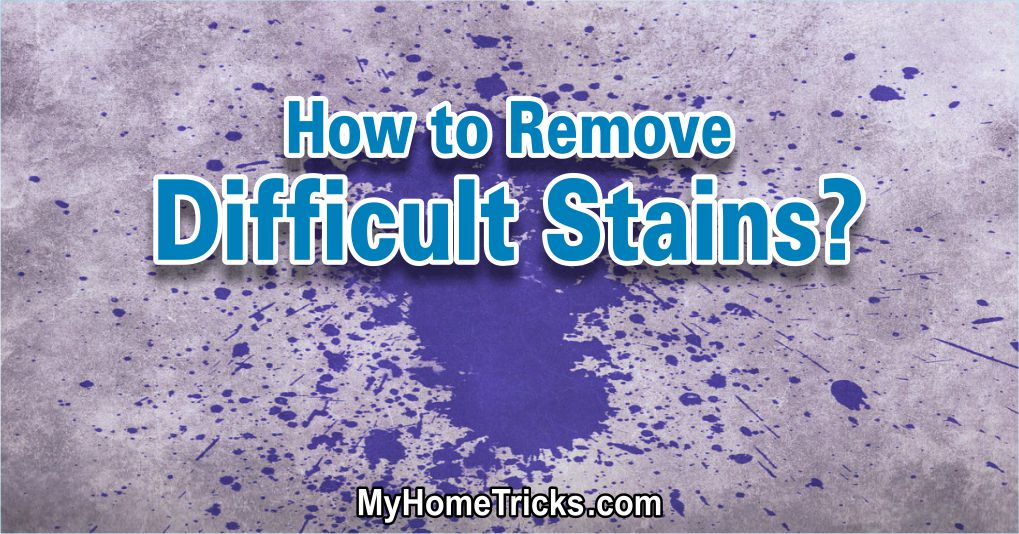 Remove Difficult Stains