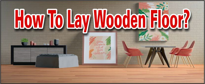 laying wooden floor