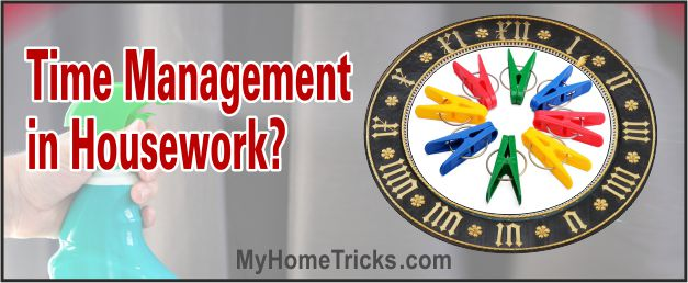 time management in households chores